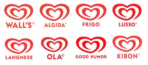 Olhando, fica óbvio que essas marcas todas representam a mesma empresa.