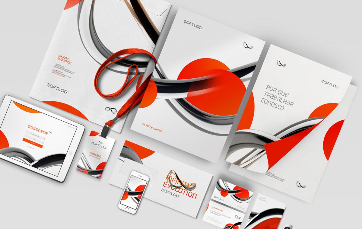 A identidade visual da Softlog Brasil (uma empresa de softwares para logística) projetada pelo Multiverso.